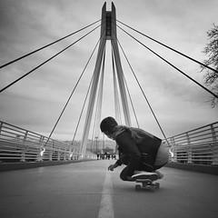 @sierraquitiquit skates the U.  #UofU #universityofutah #LegacyBridge #skatetheU #skateboarding
