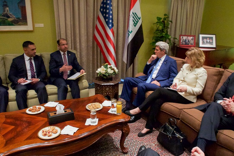 Secretary Kerry Meets With Iraqi Speaker of the Council of Representatives Dr. al-Jaburi in Baghdad