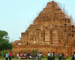 Image of Sun Temple. people india building architecture orissa 2015