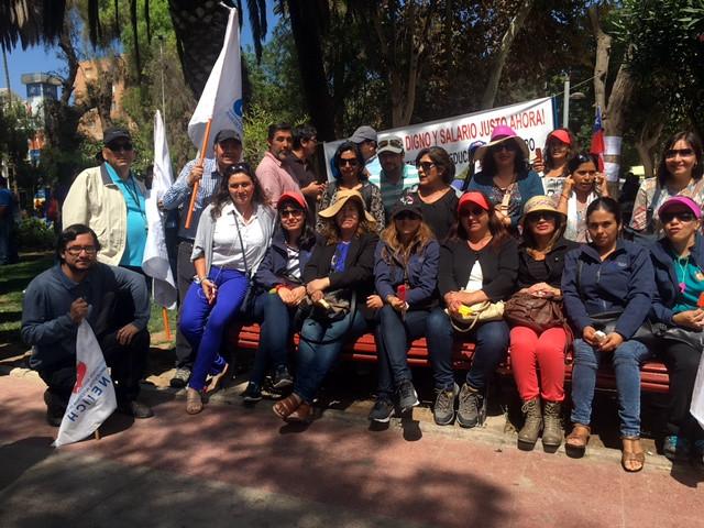 Dirigentas Nacionales de AFIICH se encuentra hoy en Copiapó por Paro Indefinido en la Región - 18 Marzo 2016
