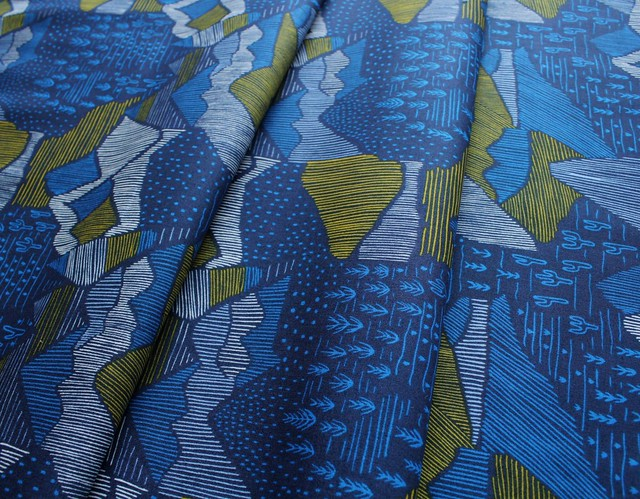 Cloud9 Fabrics Lore 151712 Olympus Navy