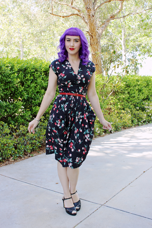 Trashy Diva Sadie Dress in Cherries Print