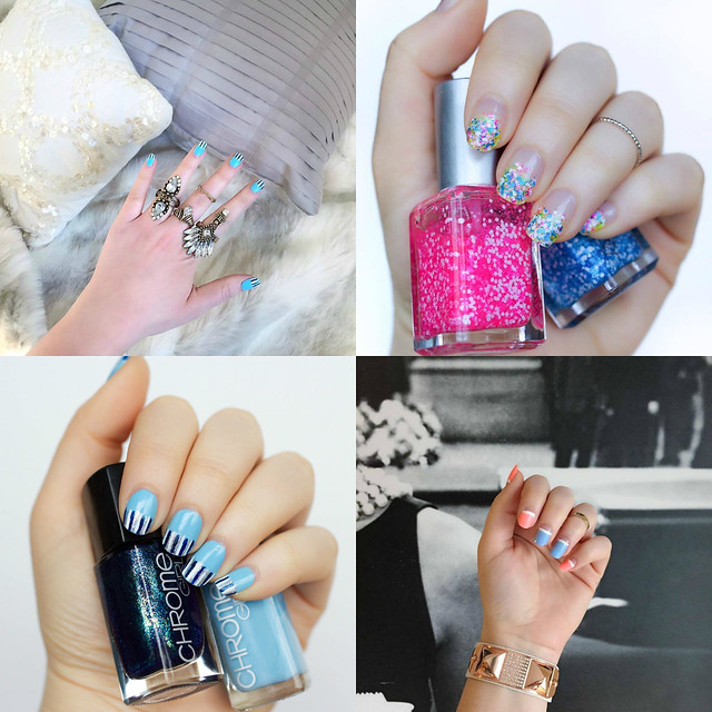 Nail Art Recap | April Manicures | April 2016 on Living After Midnite