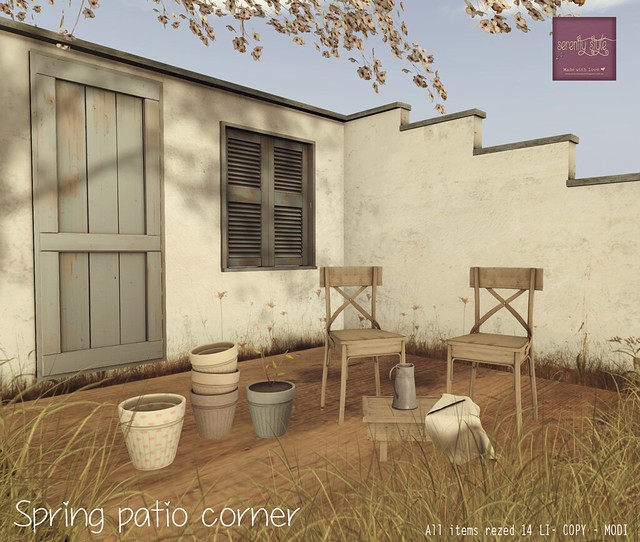 Serenity Style- Spring Patio Corner