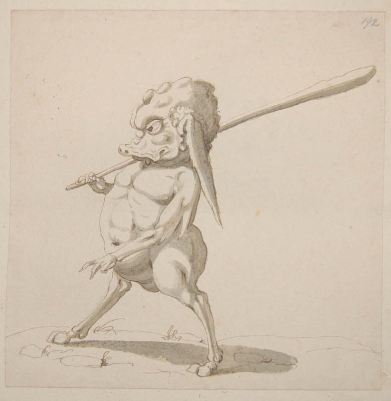Arent van Bolten - Monster 192, from collection of 425 drawings, 1588-1633