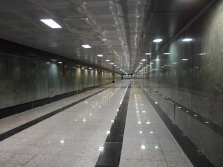 Deserted Metro due to Nowruz