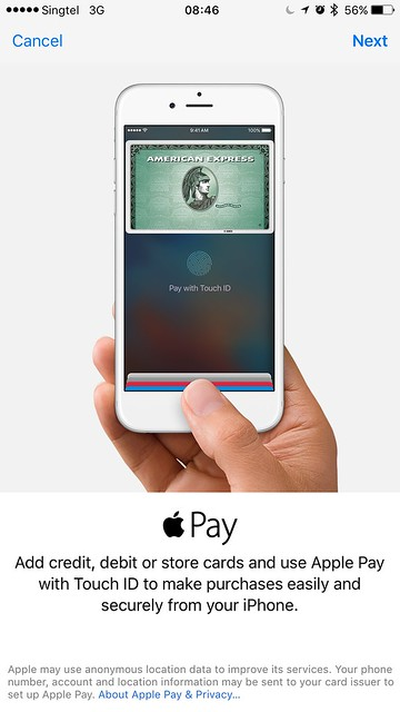 Apple Pay Singapore - AMEX - Setup