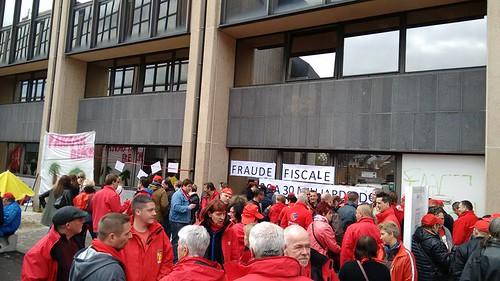 Namur. Rassemblement FGTB du 19 avril