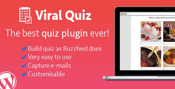 WordPress Viral Quiz v2.17 – BuzzFeed Quiz Builder