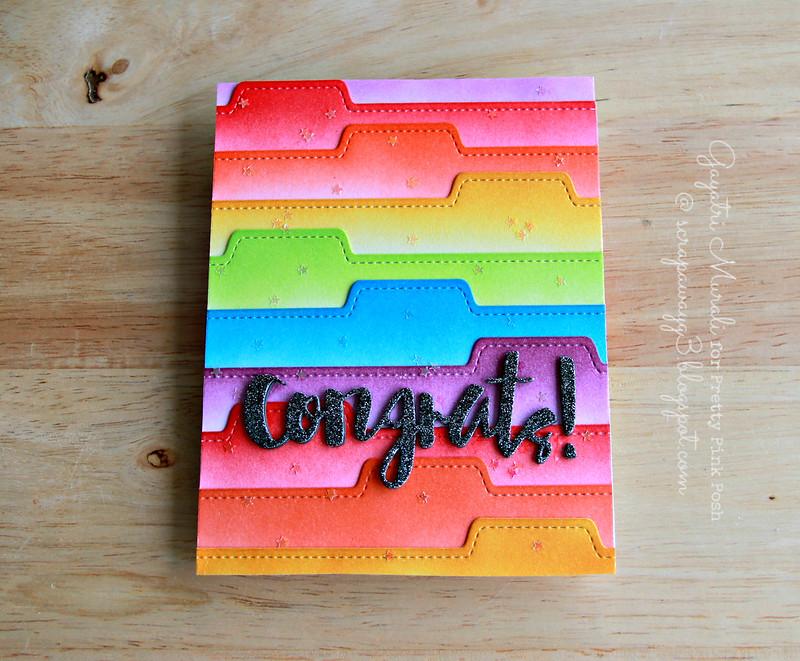 Congrats card flat