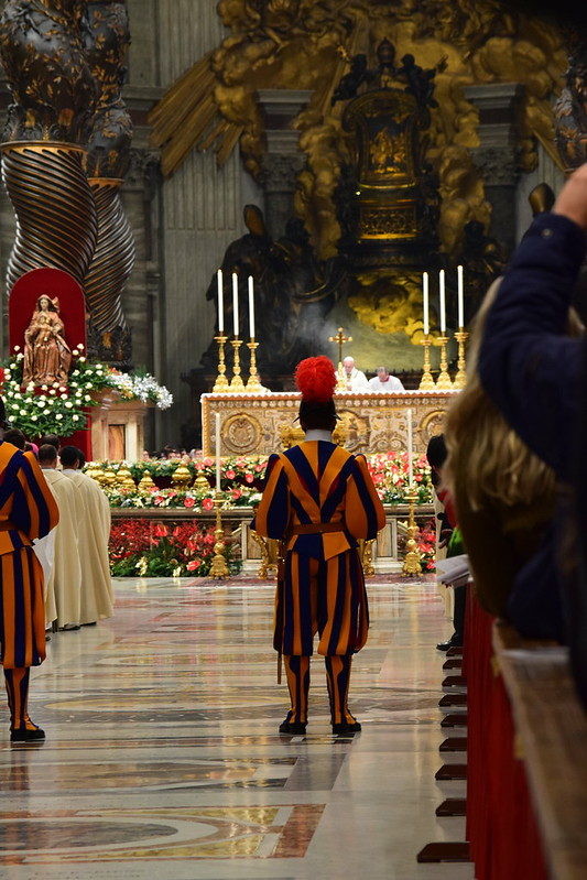 Swiss guards doing their job
