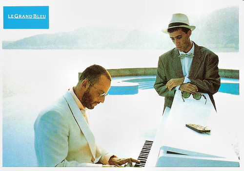 Jean Reno and Sergio Castellitto in Le Grand Bleu (1988)
