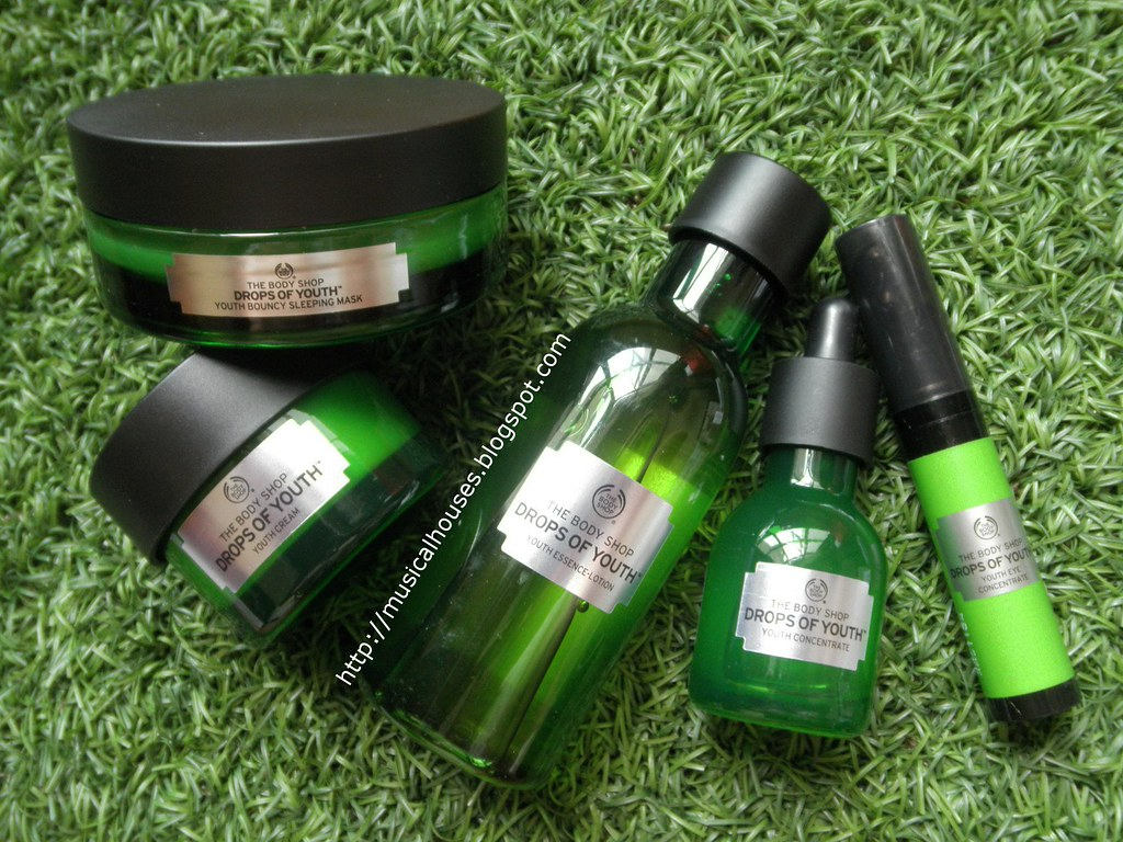 The Body Shop Drops of Youth Essence Lotion Youth Concentrate Eye Cream Bouncy Sleeping Mask 1