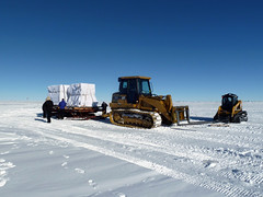 Ice cores ready for transport back to South Pole Station