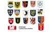 Wappen ehemaliger deutscher Siedlungsgebiete im Haus der Heimat Karlsruhe