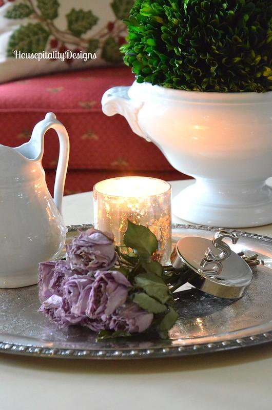 Dried Lavender Roses Vignette - Housepitality Designs