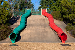 Green and Red Slide