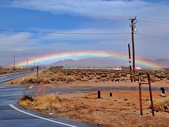 Apple Valley Rainbow.  #rainbow #weather #applevalley #california #adventure
