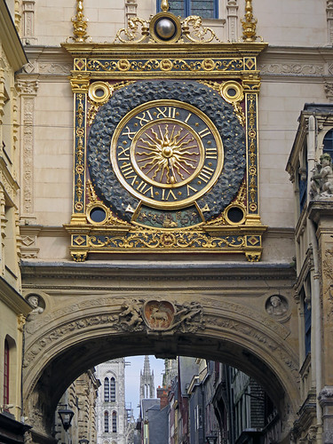 The Archway into Rouen with its elaborate clock