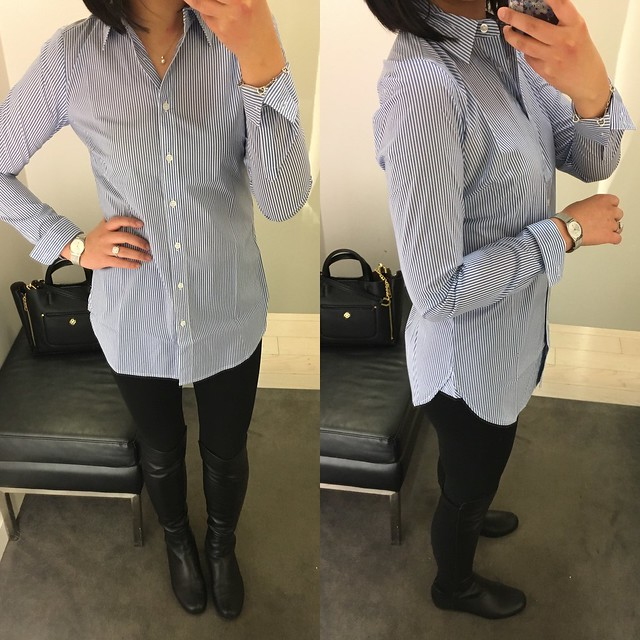 Ann Taylor Stripe Perfect Shirt