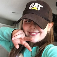 Love getting these texts from my youngest CEO, she knows which equipment hat to rock... #francesca @catproducts #stonecreationsoflongisland #youngest #ceo #longisland #masonry #pavers #concrete #contractors