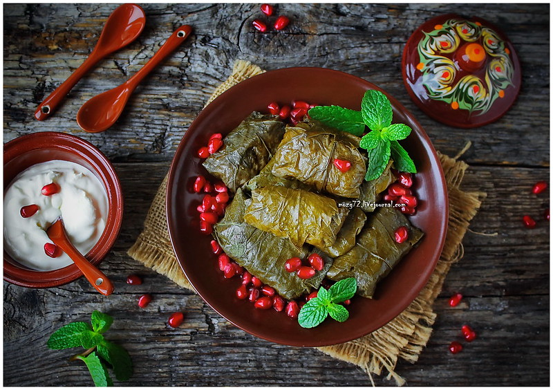 ...dolma in grape leaves