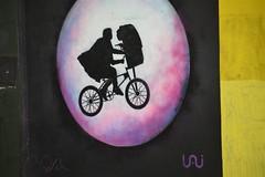 DSC_9783 Shoreditch Street Art London Great Eastern Street - ET with a Gun Hijacking a Bike