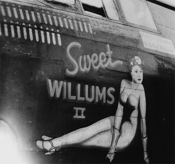 Nose art of A-20 Sweet Willums II