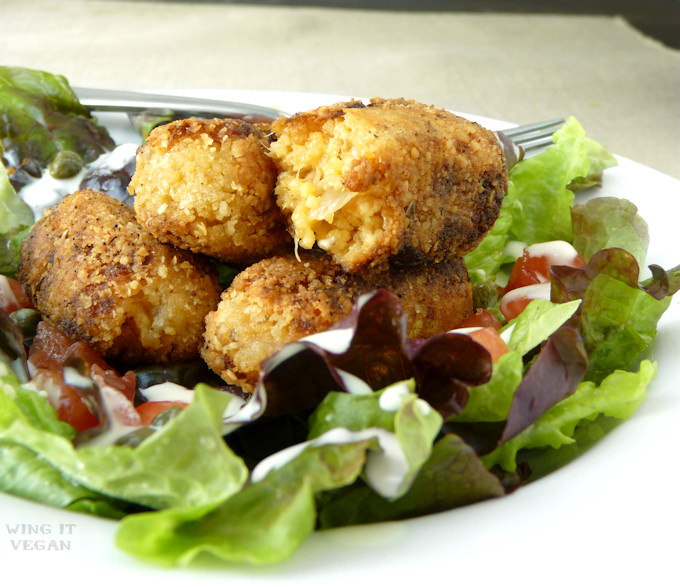 Couscous Onion and Cheese Croquettes