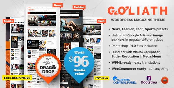 GOLIATH v1.0.26 - Ads Optimized News & Reviews Magazine
