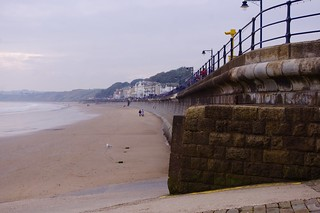 Image of Filey Bay. uk england coast yorkshire promenade filey