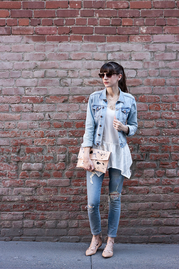 Walter and George Clutch, Ripped Skinny Jeans, Denim Jacket
