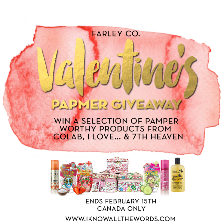 valentine's pamper giveaway blog