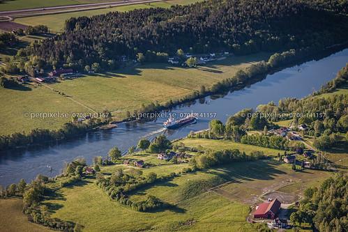 sverige båt swe västragötaland götaälv fartyg flygfoto västerlanda kyrkeby