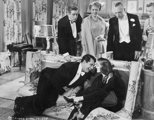 Bringing Up Baby - backstage - Cary Grant and Katharine Hepburn