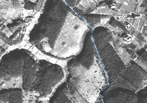龍角寺切通し 1947年米軍航空写真比較