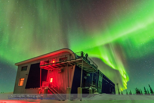 Auroral Curtains over Northern Studies Centre #1