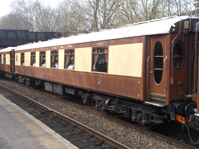 Pullman car 'Audrey' leaving Shalford