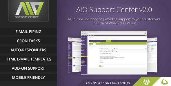 Codecanyon AIO Support Center v2.1.4 - WordPress Ticketing System