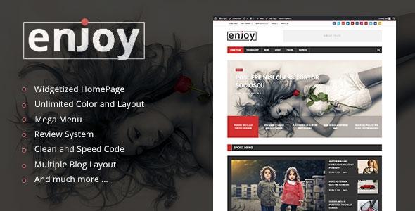 Enjoy v1.0 - WordPress Magazine and Blog Theme
