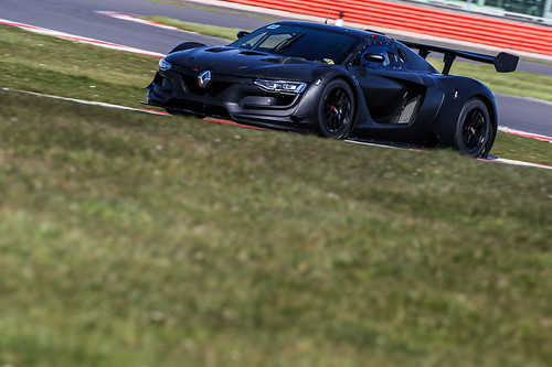Nick Holden and Andrew McKenna getting their first taste of the Renault RS01.