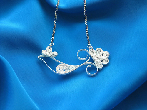 Tax Bird - Quilled Paper Necklace