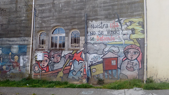 Murals in Ancud, Chiloé, Chile