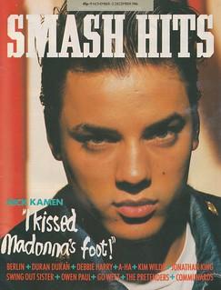 Smash Hits, November 19, 1986
