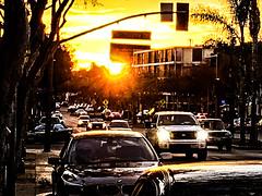 Sunset on SaMo Blvd in WEHO