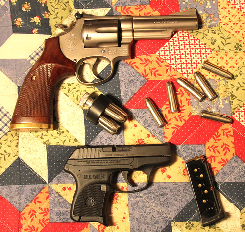 S&W Model 19 with Junior.