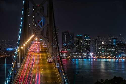 sanfrancisco street longexposure travel night landscape bay cityscape baybridge nikond5300