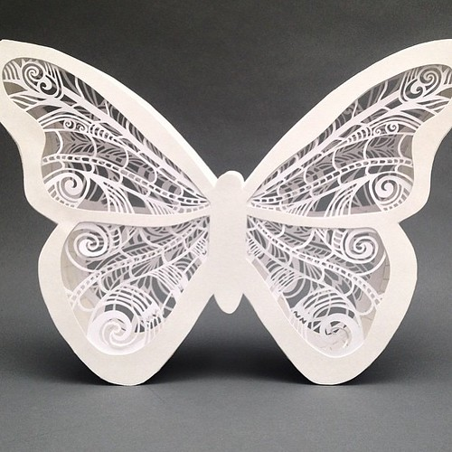 3D Papercut Butterfly - Pretty Paper Dreams