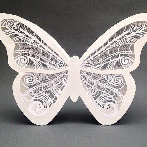 3D Papercut Butterfly - Pretty Paper Dreams