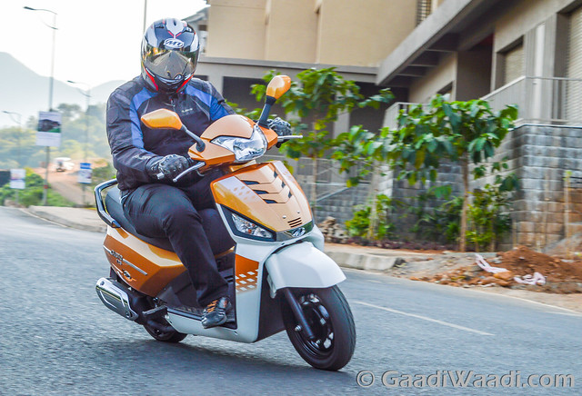 Mahindra Gusto 125 Test Drive review-29